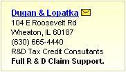 Enhanced R&D Tax Credit Consultants Listing
